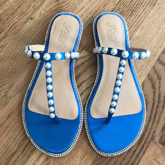 ced3706d870c Blue Jewel Badgley Mischka Sandals